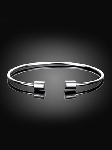 Delicate Cylinder Shaped Open Design Bangle