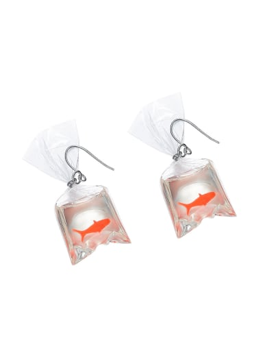 Personalized Creative Golden Fish PVC Earrings