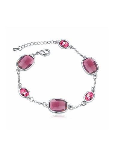 Simple Swarovski Crystals Alloy Bracelet