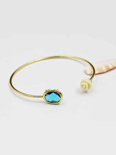 Adjustable Length Yellow Rose Glass Bangle