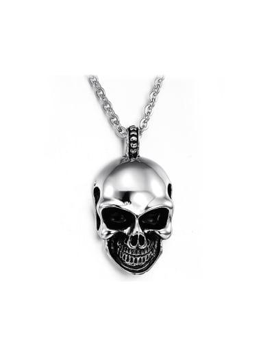 Punk style Personalized Skull Pendant Titanium Necklace