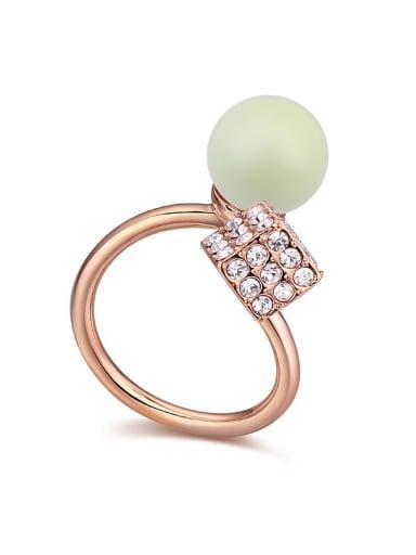 Austria was using SWAROVSKI elements crystal light Pearl Ring