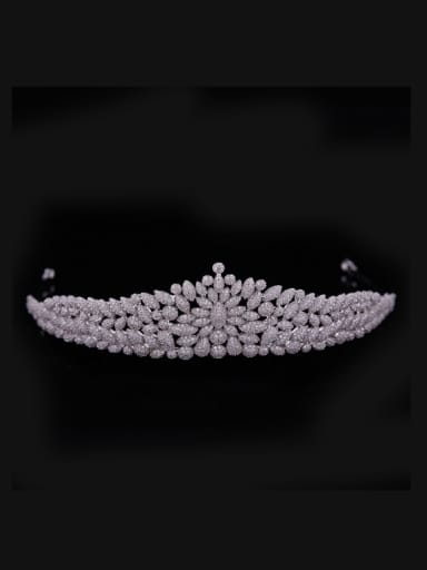 Exaggerate Micro Pave Zircons Fashion Women Copper Hair Accessories