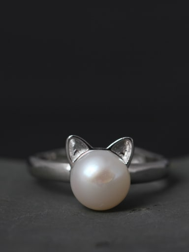 Women Freshwater Pearls Opening Ring