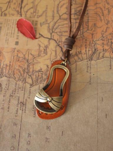 Unisex Personality Slipper Shaped Necklace