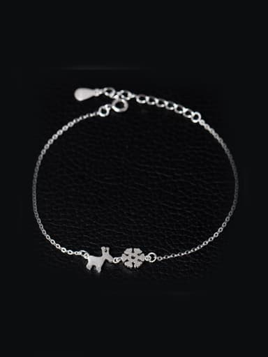 Christmas Snowflake Deer Simple Bracelet