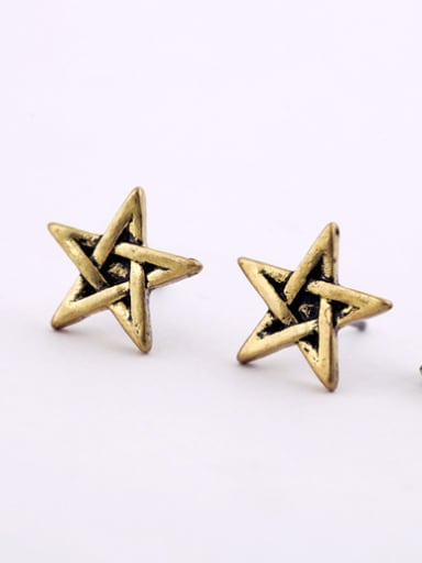 Alloy Gold Plated Star stud Earring