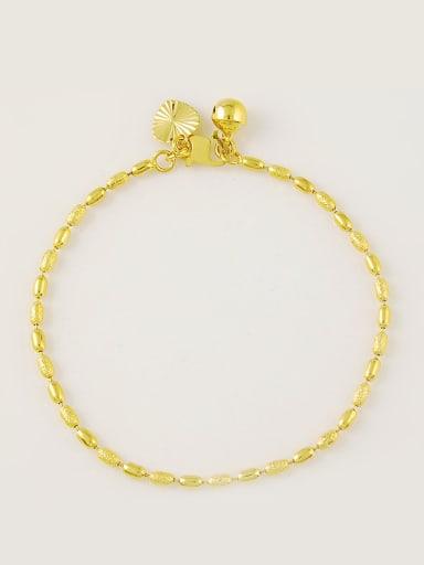 Women 24K Gold Plated Heart Shaped Copper Bracelet