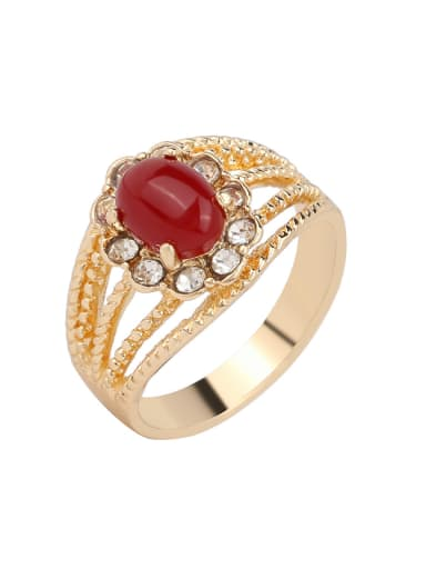 Retro style Resin stone Gold Plated Alloy Ring
