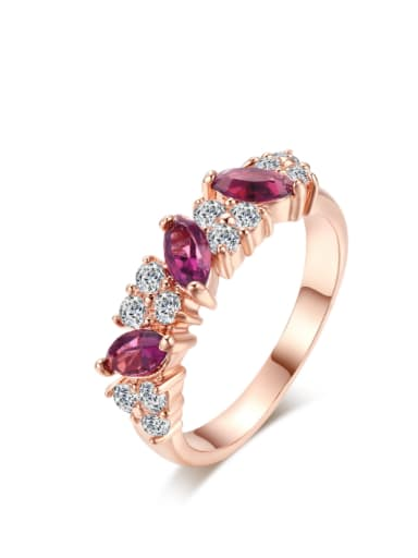 Noble Zircons Fashion Western Style Copper Ring