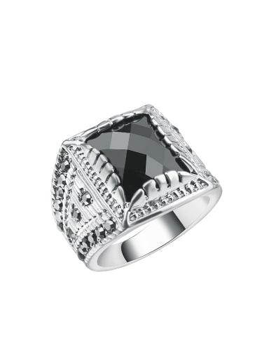 Retro Personalized Black Resin stone Rhinestones Alloy Ring