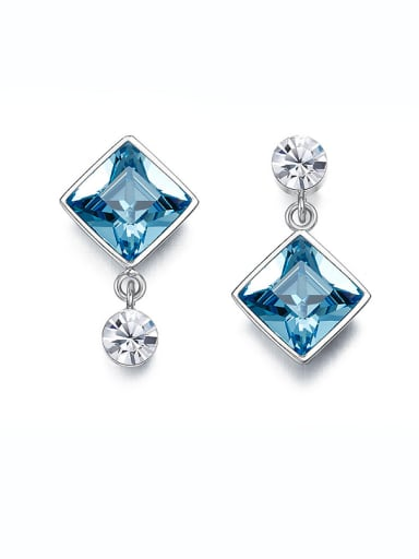 Swarovski Crystals Square-shaped drop earring