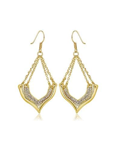 Rhinestones Heart-shaped Drop Earrings