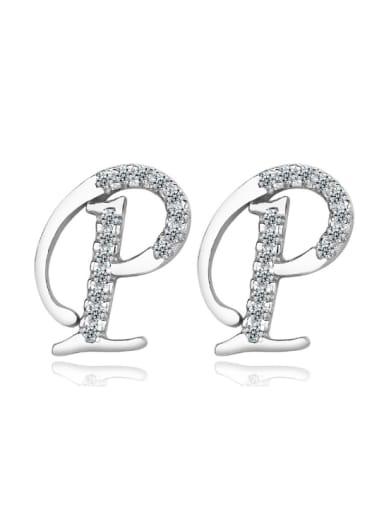 Letter P-shape Fashion Stud Earrings