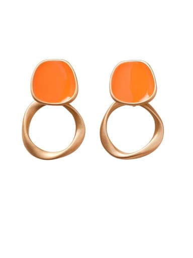 Alloy With Imitation Gold Plated Simplistic Geometric Stud Earrings