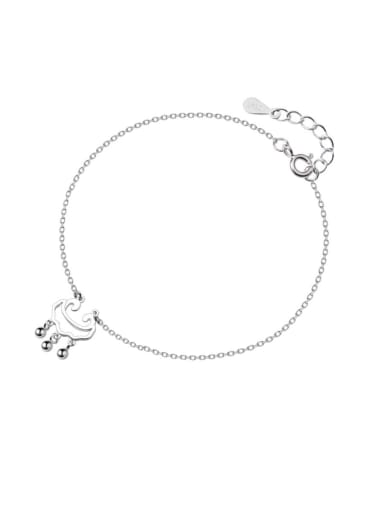 925 Sterling Silver With Platinum Plated Personality Locket Anklets