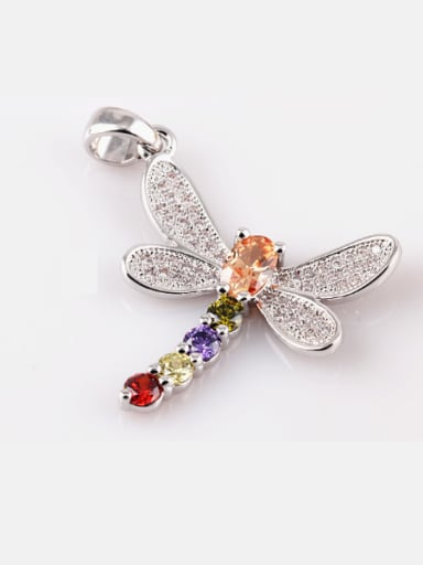 Dragonfly Zircon Colorful Exquisite Fashion Necklace