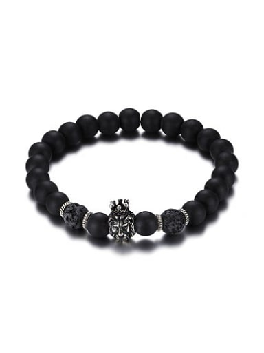 Personality Lion Shaped Alloy Bead Shaped Bracelet