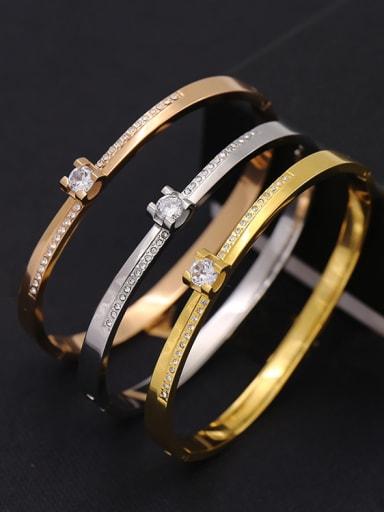 Titanium steel Zirconium minimalist style bracelet