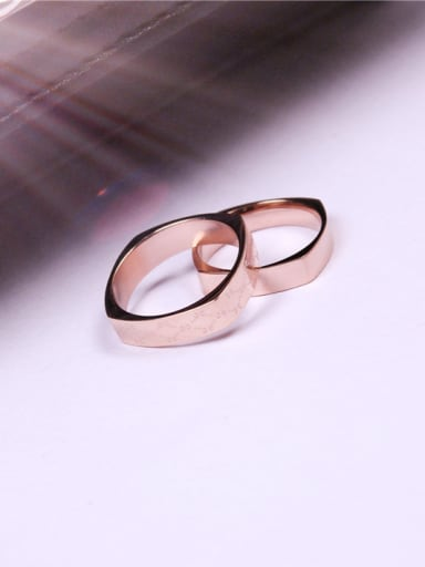 Square Rose Gold Plated Lover Ring