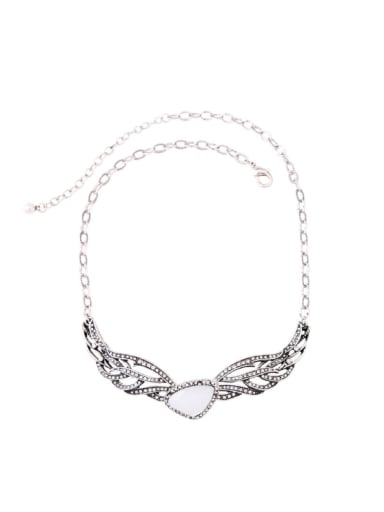 Retro Style Wings-shape Pendant Noble Necklace