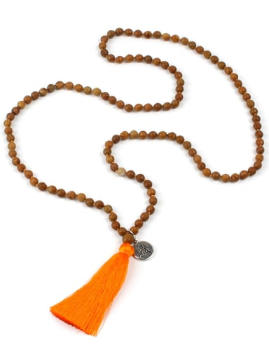Simple Style Natural Stones Tassel Handmade Necklace
