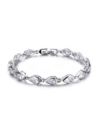 High Quality Water Drop Shaped Zircon Charm Bracelet