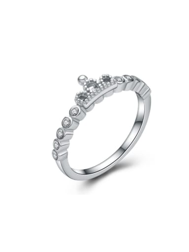 Small Crown Women Fashion Silver Ring