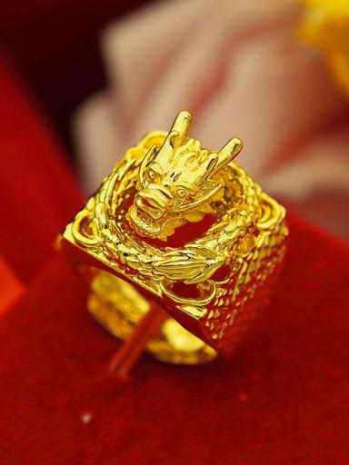 Men 24K Gold Plated Dragon Ring