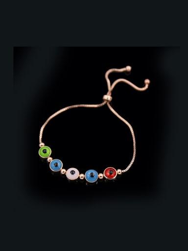 Round Enamel Stretch Bracelet