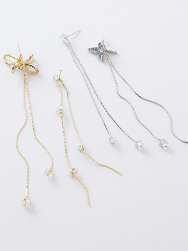 Alloy With Gold Plated Simplistic Butterfly Threader Earrings