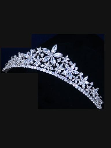 Luxury Noble Micro Pave Zircons Wedding Hair Accessories