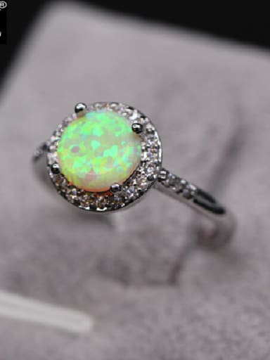 Simple Opal Stone Multistone ring