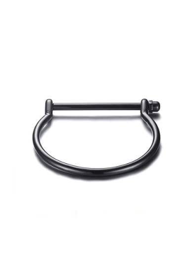 Personality High Polished Black Gun Plated Titanium Bangle
