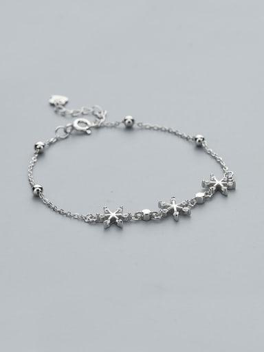925 Silver Snowflake Shaped Bracelet