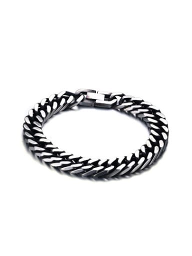 Vintage Geometric Shaped Stainless Steel Men Bracelet
