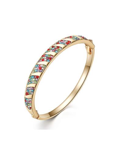Fashion Gold Plated Tiny Cubic Rhinestones Alloy Bangle