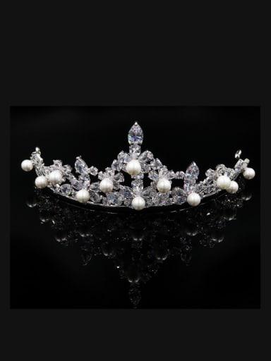Luxury Shining Artificial Pearls Zircons Hair Accessories