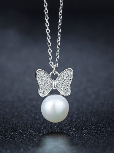 2018 Bowknot Pearl Necklace