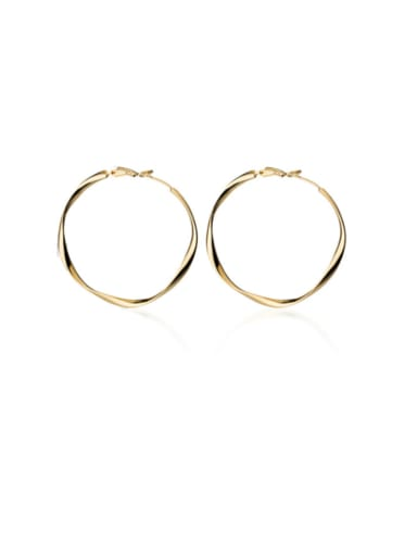 925 Sterling Silver With Smooth Simplistic Round Hoop Earrings