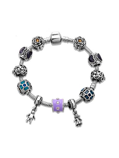 Exquisite Couple Doll Shaped handed Beads Bracelet