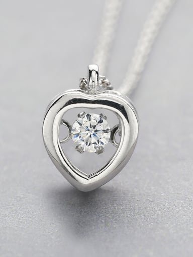 Heart Zircon necklace