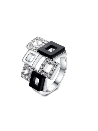 Fashion New Design Square Copper Ring
