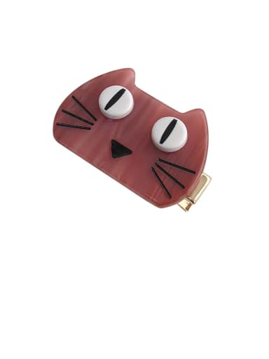 Alloy With Cellulose Acetate Cute Cat Barrettes & Clips