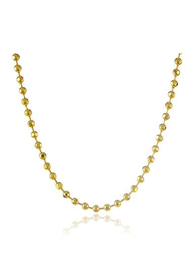 Women Elegant 24K Gold Plated Tiny Bead Necklace