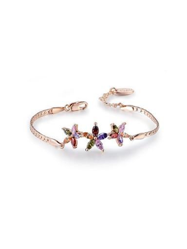 Colorful Star Shaped AAA Zircon Bracelet