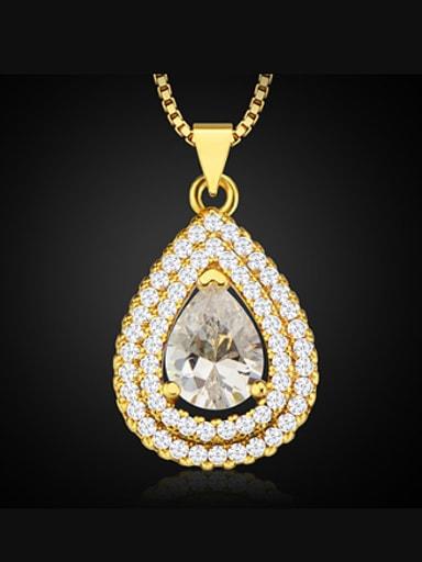 Fashion Water Drop Zircon Necklace