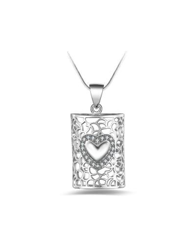 Retro style Heart Hollow Pendant Copper Necklace