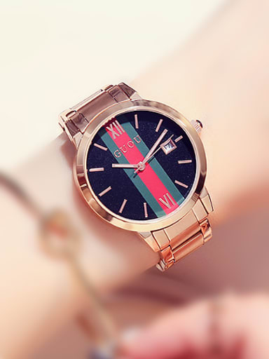 GUOU Brand Rose Gold Plated Fashion OL Watch