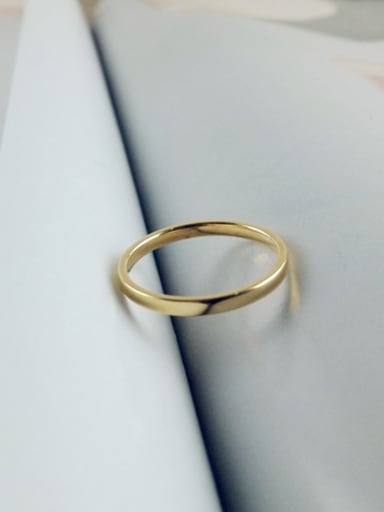 Simple Style Single Line Ring
